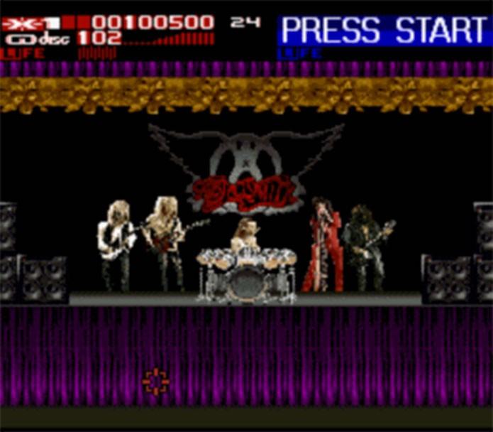 Revolution X trazia o Aerosmith ao game (Foto: Reprodução/EmuParadise)