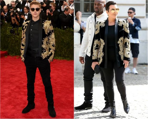 Justin Bieber e Kris Jenner: quem vestiu melhor? (Foto: Getty Images | AFP)
