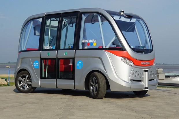 Micro-ônibus autônomo da empresa francesa Navya (Foto: Divulgação)