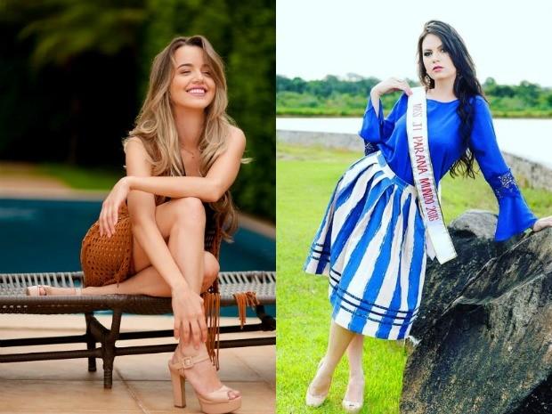 Karliany Barbosa (à esquerda) e Letícia Cappatto competiram pela coroa de Miss Rondônia Mundo no sábado (23) (Foto: Facebook/Reprodução)