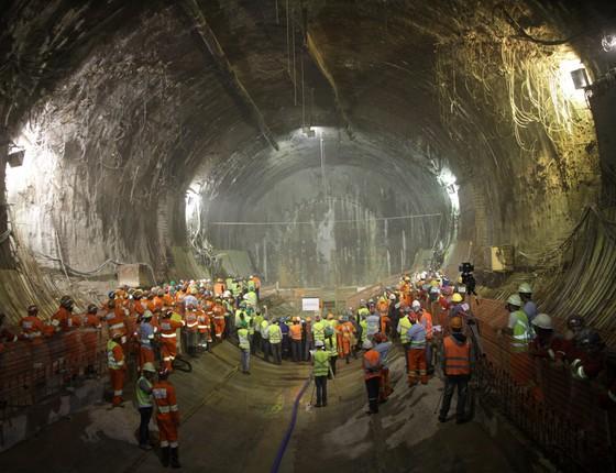 Obras da Linha 5 - Lilás do metrô de São Paulo. Para promotores, delações trazem novos elementos às investigações sobre desvios no projeto (Foto: Divulgação)