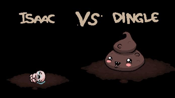 Dingle ainda consegue ser uma das coisas menos nojentas de The Binding of Isaac: Rebirth (Foto: Divulgação)