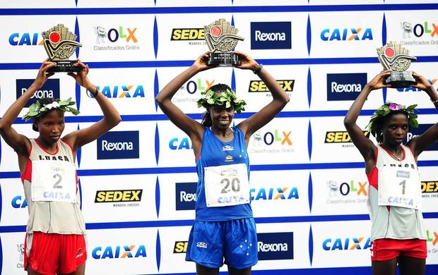 Maurine Kipchumba troféu corrida de São Silvestre (Foto: Marcos Ribolli / Globoesporte.com)