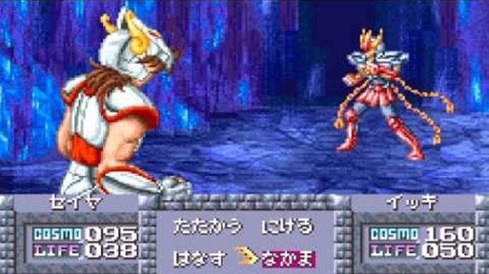 O remake de Cavaleiros do Zodíaco trouxe gráficos belíssimos para um portátil na época (Foto: Reprodução/YouTube)