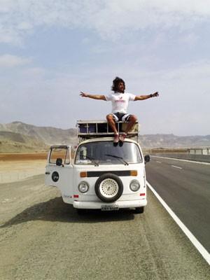 Fausto viajou durante 274 dias (Foto: Arquivo Pessoal)