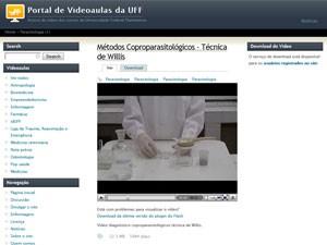 Portal de videoaulas da UFF, aulas em vídeo (Foto: Reprodução)