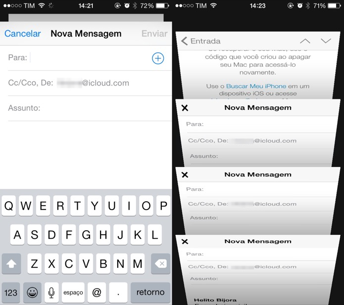 Aplicativo de e-mail possui multitarefa (Foto: Reprodução/Helito Bijora)