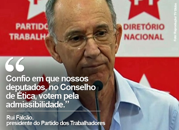 O presidente do PT, Rui Falcão, em imagem de arquivo (Foto: Reprodução/TV Globo)
