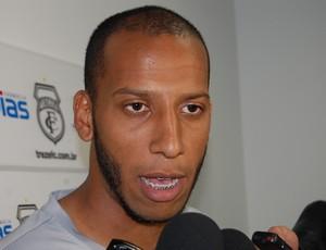 Tiago Chulapa, atacante do Treze (Foto: Silas Batista / Globoesporte.com/pb)