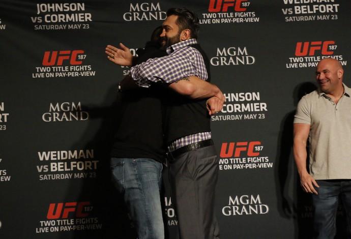 Los careos amistosos del UFC 187