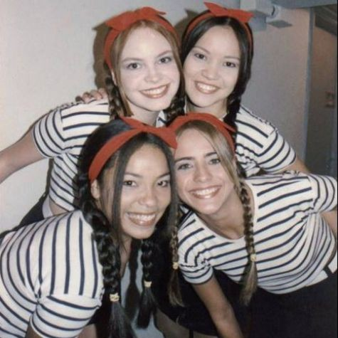 As angelicats Micheli Machado, Geovanna Tominaga, Mirella Tronkos e Juliana Silveira (Foto: Reprodução)