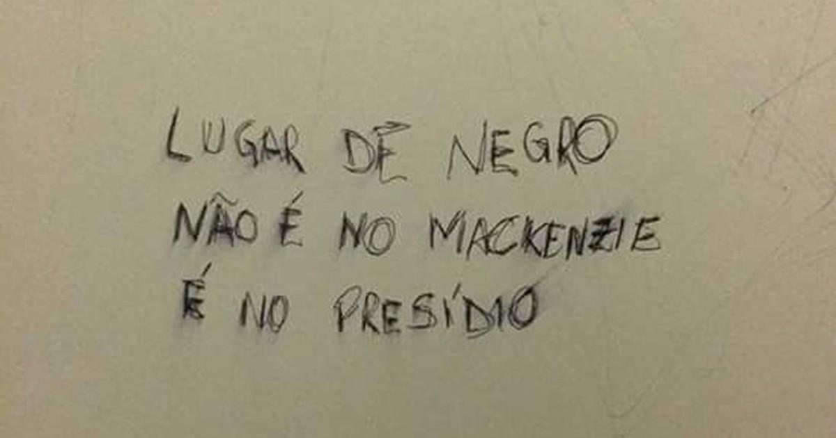 G1 Pichação Racista é Encontrada Em Banheiro Do Mackenzie Em Sp