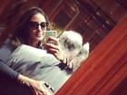 Flávia Sampaio posta foto abraçadinha com Eike: 'Eterno amor'