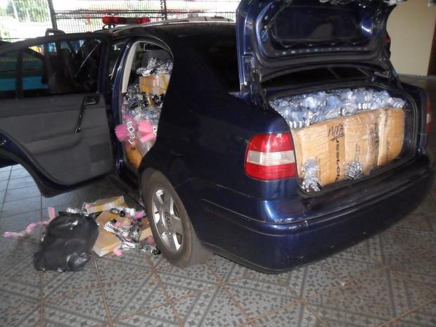Relógios saíram do Paraguai e seriam levados para São Paulo, diz polícia. (Foto: Polícia Ambiental/Divulgação)