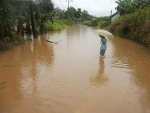 Chuvas têm gerado preocupação em Itariri, SP (Foto: Camila Gusiken/ VC no G1)