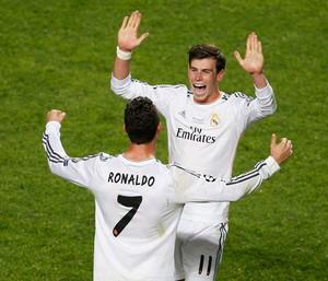 Gareth Bale cristiano Ronaldo real madrid liga dos campeões (Foto: Agência Reuters)