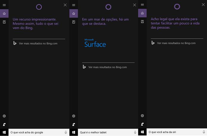 Cortana fala sobre Google, Apple e Surface (Foto: Reprodução/Tassia Moretz)