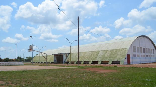 Ginásio Poliesportivo Afonso Rodrigues em Guajará-Mirim (RO) (Foto: Edivaldo Souza)