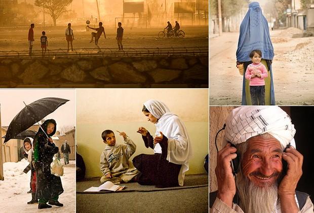 """IMAGENS DE """"STREET OF AFGHANISTAN"""", EXPOSIÇÃO PÚBLICA ORGANIZADA PELA AMERICANA (Foto: Gulbidin)"""