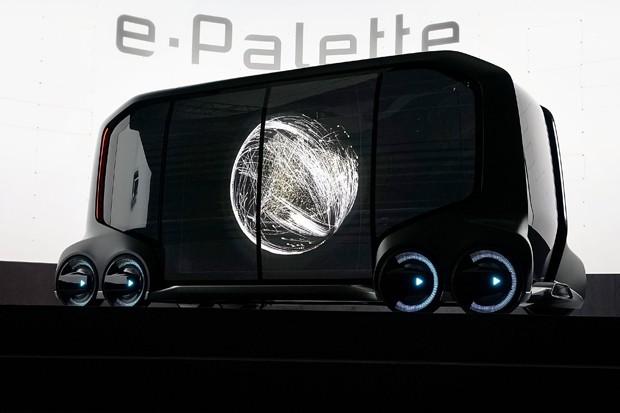 O e-Palette da Toyota é um carro autônomo para todo tipo de tarefa (Foto: Alex Wong/Getty Images)