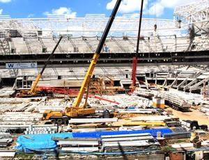 Obras Arena Palmeiras (Foto: Sergio Gandolphi)