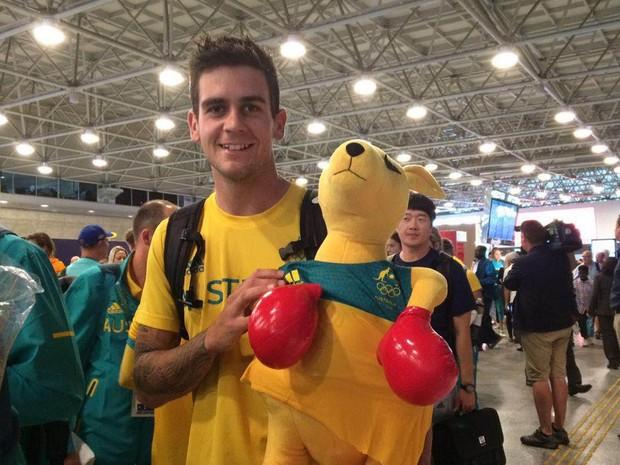 Atleta australiano Blake Govers adorou o povo brasileiro (Foto: Patricia Teixeira/G1)
