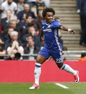 Willian Chelsea Tottenham (Foto: John Sibley / Reuters)