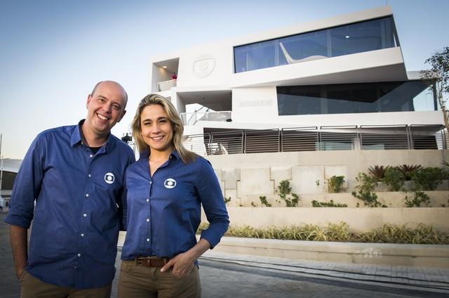 Alex Escobar e Fernanda Gentil (Foto: Globo/ João Miguel Junior)