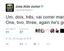 """José Aldo provoca Conor McGregor: """"1, 2, 3, vai correr mais uma vez"""""""