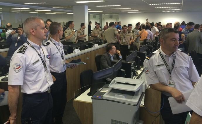 policiais estrangeiros segurança Copa do Mundo (Foto: Fabrício Marques)