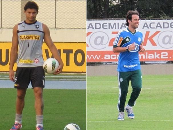 Jogadores treinam para o jogo de quarta (Foto: Thales Soares / Marcos Guerra / Globoesporte.com)