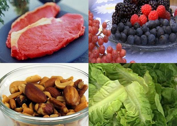 Dieta do Paleolítico inclui carne, frutas, castanhas e verduras  (Foto: SPL/Melchoir/Wikicommons/TV Globo)