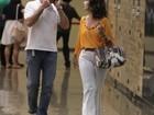 Fátima Bernardes e William Bonner vão ao cinema no Rio