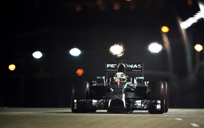 Hamilton, Treino Classificatório de Formula 1 Cingapura (Foto: Getty Images)