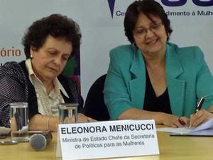 A ministra da Secretaria de Políticas para as Mulheres, Eleonora Menicucci (Foto: Luciana Amaral/G1)