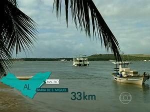 Beleza das águas alagoanas no JH (Foto: Reprodução/ Rede Globo)