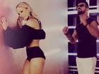Claudia Leitte mostra boa forma em gravação de clipe com Dennis DJ