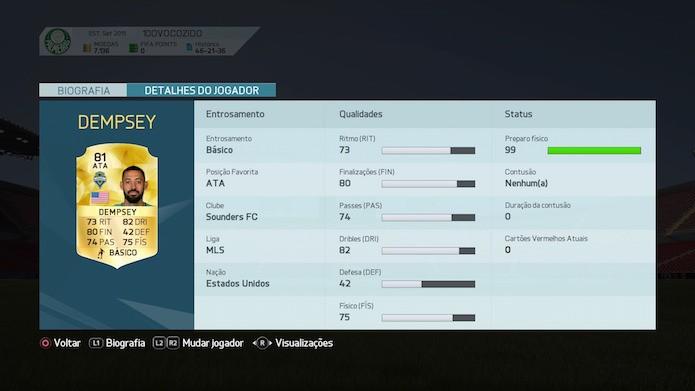 Fifa 16: Dempsey (Foto: Reprodução/Victor Teixeira)