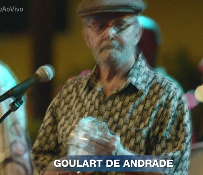 Goulart de Andrade fez parte da homenagem do Vídeo Show (Foto: TV Globo)