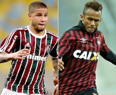 Bruno (Fluminense) e Suélliton (Atlético-PR) (Foto: Editoria de Arte)