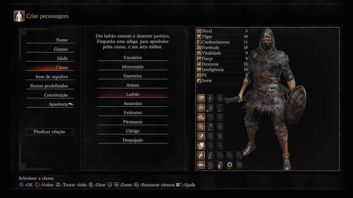 Dark Souls 3: ladrão (Foto: Reprodução/Victor Teixeira)