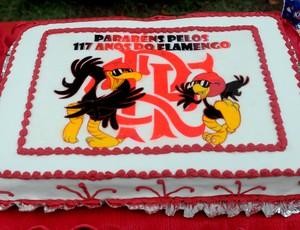 bolo flamengo aniversário (Foto: Alexandre Vidal / Flaimagem)
