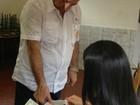 Mário Português vota na Escola Petrônio Barcelos, em Porto Velho