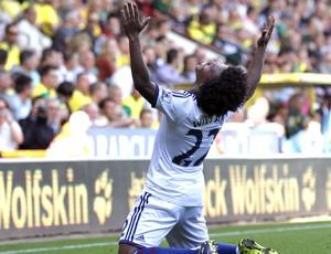 Willian Comemoração do Chelsea contra o Norwich (Foto: Agência AFP)