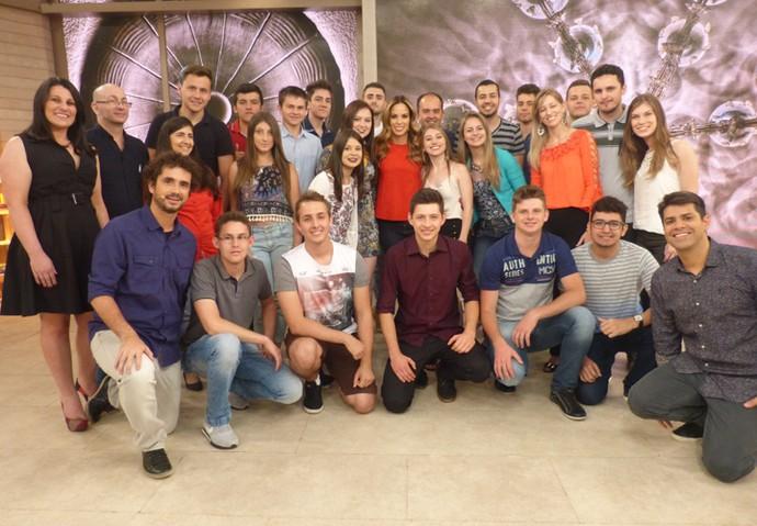 Plateia do Encontro nos bastidores no programa (Foto: Paula Oliveira/Gshow)