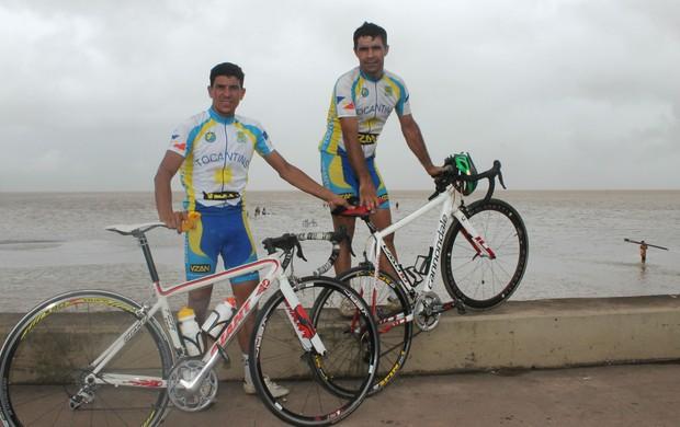 Os ciclistas Jean Pereira (à esq.) e Aurélio Machado (à dir.) vão representar o TO (Foto: Aurélio Machado/Arquivo Pessoal)