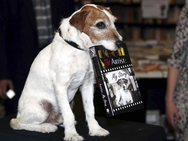Além de estrelar o principal ganhador do Oscar em 2012, Uggie atuou em vários filmes e propagandas.  (Foto: AP / Sean Dempsey / PA)