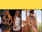 Karina Bacchi relembra corpo cheio de curvas de alguns anos atrás