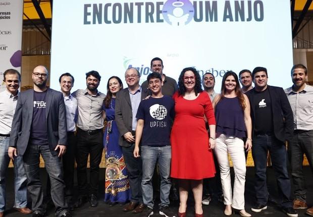 Finalistas do Encontre um Anjo 2017 durante o Festival de Cultura Empreendedora (Foto: Ricardo Cardoso/Editora Globo)