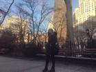 Sasha posta foto em Nova York: 'Casualmente congelando'